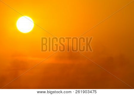 Global Warming From The Sun And Burning, Heat Wave Hot Sun, Climate Change