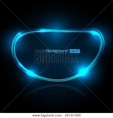 EPS10 Speech Bubble Made of Light Vector Design poster