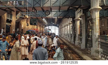 Passengers Waiting For Their Train At Lahore Station, Pakistan 01/07/2018