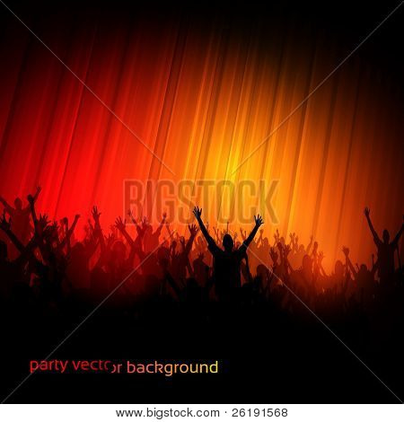 EPS10 Party People Perspective Vector Background - Dancing Young People