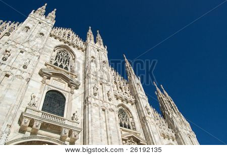 Front view of the main cathedral; Milan, Italy