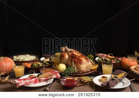 Thanksgiving Turkey Dinner With All The Sides