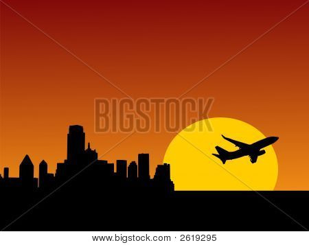 Plane Taking Off From Dallas