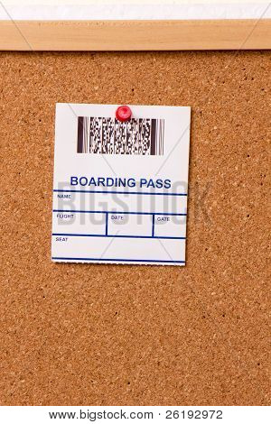 Pinned Boarding Pass