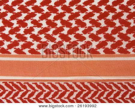 Pattern on the edge of the Palestinian or Arab keffiyah, a traditional print.