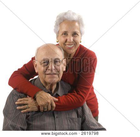 Loving, Handsome Senior Couple