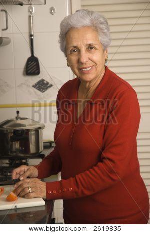 Senior Woman Cooking