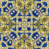 Kaleidoscope created from a photo of an Eastern Flowering Dogwood tree -- Cornus Florida poster