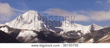 Colorado Winter Panorama Landscape