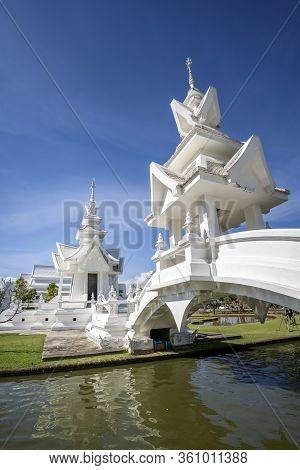 Chiang Rai Thailand - January 2nd 2020: Wat Rong Khun White Temple , Chiang Rai, Northern Thailand,