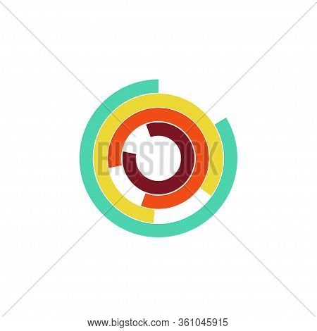 Circle Chart Abstract Infographic. Infographic Presentation Concept.
