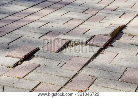 Defective Cobblestone Pavement Due To Incorrectly Prepared Base