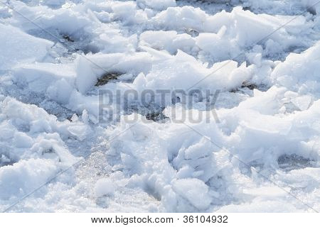 Chunks Of Snow And Ice Walked On