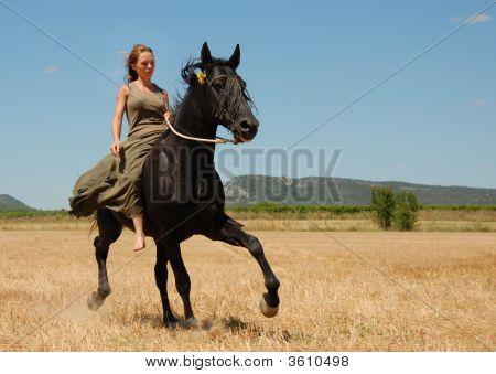 Riding Teenager