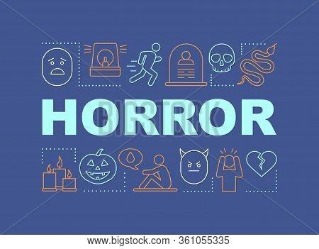 Horror Word Concepts Banner. Consternation. Dangerous Area. Terrible Accident. Presentation, Website