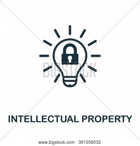 Intellectual Property Icon. Simple Creative Element. Filled Intellectual Property Icon For Templates