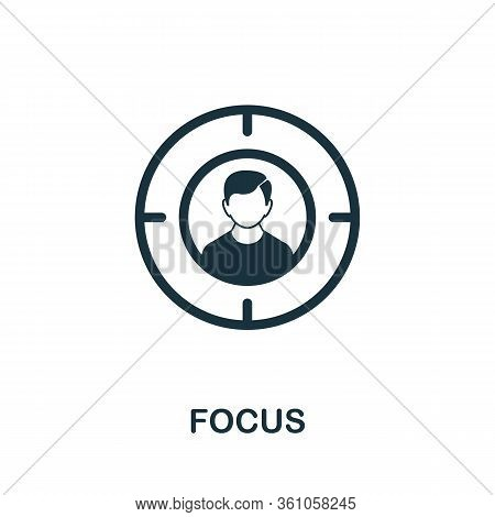 Focus Icon. Simple Element From Consulting Collection. Filled Focus Icon For Templates, Infographics