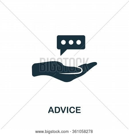 Advice Icon. Simple Element From Consulting Collection. Filled Advice Icon For Templates, Infographi