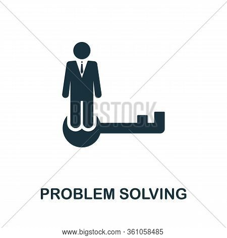 Problem Solving Icon. Simple Element From Consulting Collection. Filled Problem Solving Icon For Tem