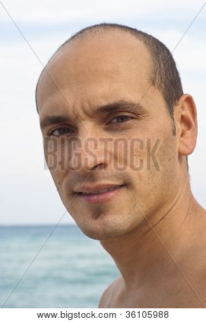 Portrait Of Man On The Beach