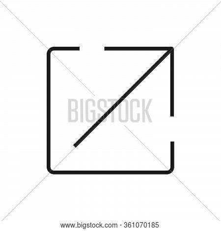 Simple Icon Of A Fullscreen Button Vector Illustration