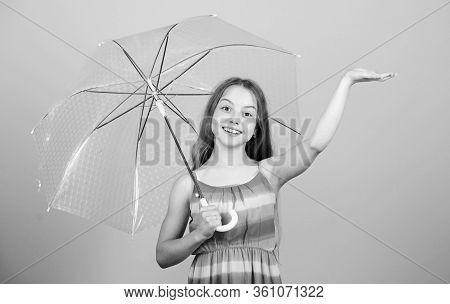 Rainy Days Coming. Love Rainy Days. Kid Girl Happy Hold Transparent Umbrella. Enjoy Rainy Weather. I