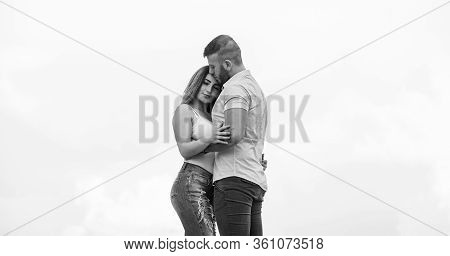 Being Together. Man And Woman Embrace. Couple In Love. Family Relations And Happiness. Valentines Da
