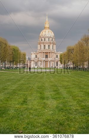 Paris, France - April 8, 2019: Les Invalides Also Known As The National Residence Of The Invalids, C