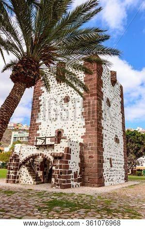 Count Tower Picturesque 15th Century Coastal Tower In San Sebastian De La Gomera. April 15, 2019. La