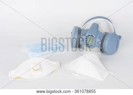 Twin Filter Half Face Respirator Mask Ffp3 , Respirator Ffp1, Ffp2 And Face Mask, Personal Protectiv