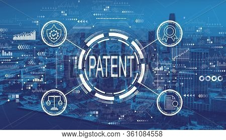 Patent Concept With Downtown San Francisco Skyline Buildings