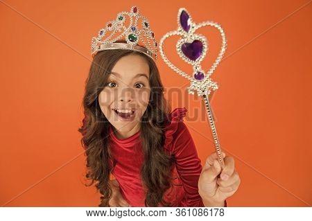 Pronounce Spell. Fantasy And Creativity. Develop Imagination. Magic Trick. Magic Stick Concept. Cute