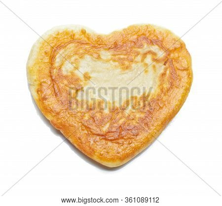 Heart Pastry Isolated On The White
