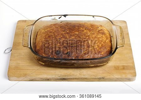 Bread In A Cooking Pan Close Up