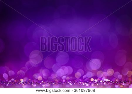 Decoration Bokeh Glitters Background, Abstract Sparkle Backdrop With Circles, Modern Design Overlay
