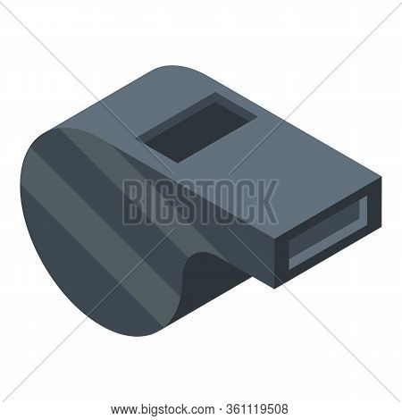 Volleyball Whistle Icon. Isometric Of Volleyball Whistle Vector Icon For Web Design Isolated On Whit
