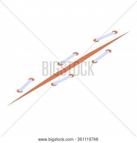 Medical Suture Icon. Isometric Of Medical Suture Vector Icon For Web Design Isolated On White Backgr