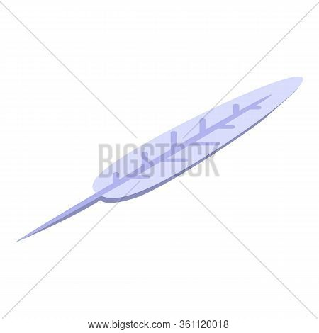 Wizard Feather Icon. Isometric Of Wizard Feather Vector Icon For Web Design Isolated On White Backgr