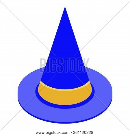 Wizard Hat Icon. Isometric Of Wizard Hat Vector Icon For Web Design Isolated On White Background