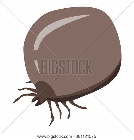 Full Blood Mite Icon. Isometric Of Full Blood Mite Vector Icon For Web Design Isolated On White Back