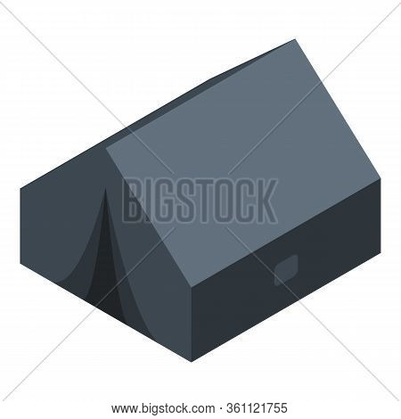 Hiking Tent Icon. Isometric Of Hiking Tent Vector Icon For Web Design Isolated On White Background