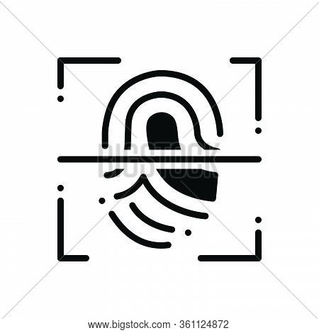 Black Solid Icon For Fingerprint-scanner Fingerprint Scanner  Authorization Security Biometric Ident