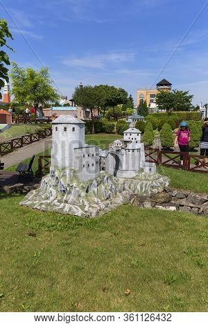 Inwald, Zator, Poland - August 12, 2018 : Miniature Park