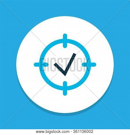Project Goals Icon Colored Symbol. Premium Quality Isolated Focus Element In Trendy Style.
