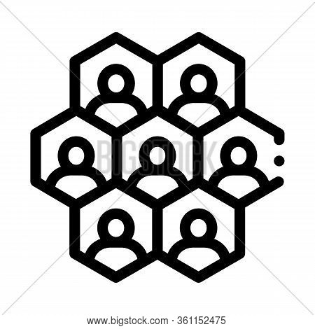 Individuality Of Each Person Icon Vector. Individuality Of Each Person Sign. Isolated Contour Symbol