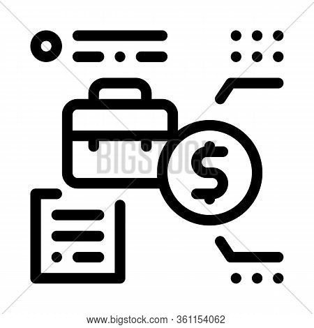 Salary For Work Icon Vector. Salary For Work Sign. Isolated Contour Symbol Illustration