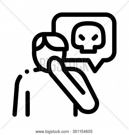 Bully Man Icon Vector. Bully Man Sign. Isolated Contour Symbol Illustration