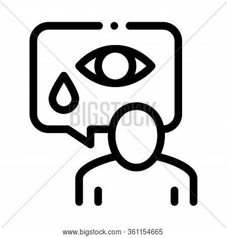 Human Tears Icon Vector. Human Tears Sign. Isolated Contour Symbol Illustration