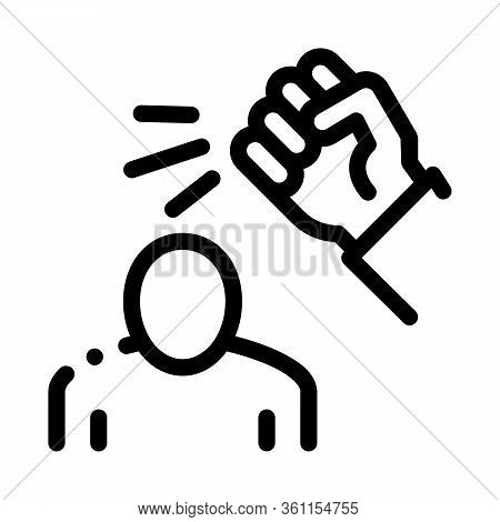 Beating Man Icon Vector. Beating Man Sign. Isolated Contour Symbol Illustration