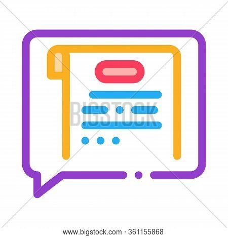 Thought Of Court Sentence Icon Vector. Thought Of Court Sentence Sign. Color Symbol Illustration